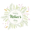 hand drawn mothers day lettering circled vector image vector image