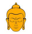 head buddha icon cartoon vector image