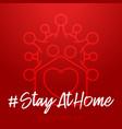 home safe valentine day 2021 coronavirus love vector image