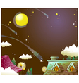 House Night Sky vector image vector image