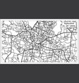 hyderabad india city map in retro style outline vector image