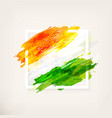 indian flag in frame vector image vector image