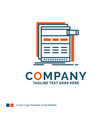 internet page web webpage wireframe logo design vector image vector image