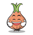 laughing face onion character cartoon vector image vector image