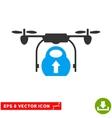 Load Cargo Drone Eps Icon vector image vector image