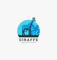 logo giraffe vintage badge style vector image vector image