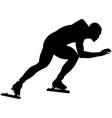 man athlete speedskater vector image vector image