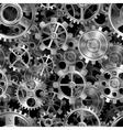 Metal gears pattern vector image vector image