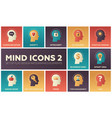 mind icons - modern set flat design vector image
