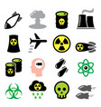 nuclear weapon nuclear factory bombs icon vector image