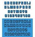old video game font vector image