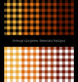 orange lumberjack pattern collection vector image vector image