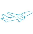outline passenger plane bottom view vector image vector image