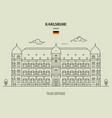 palace gottesaue in karlsruhe vector image vector image
