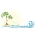 Palm tree island vector image