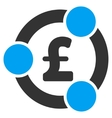 Pound Financial Collaboration Flat Icon vector image