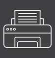 printer line icon fax and office vector image vector image