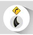 Right turn traffic sign concept graphic vector image