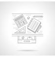 School desk flat line icon vector image