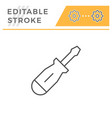 screwdriver line icon vector image vector image