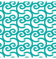 seamless pattern with blue doodle curls vector image vector image