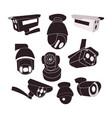 set icon of cctv cameras vector image vector image