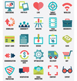 set media service flat icons - part 1 - icons vector image vector image