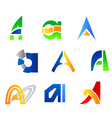 Set of alphabet symbols vector image