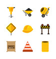 set tools construction equipment supplies vector image vector image