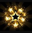 stellar explosion vector image vector image