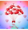valentines day with bunch pink and red heart b vector image vector image