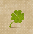 Vintage design with four-leaf clover for St vector image vector image