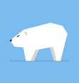White bear in flat style vector image vector image