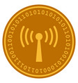 wi-fi station digital coin vector image vector image
