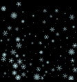 winter blue and black background with snowflakes vector image vector image