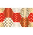 xmas luxury winter symbols seamless pattern vector image