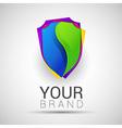 Creative colorful abstract logo Shield design vector image