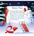 Winter Time Background vector image