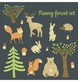 forest set vector image