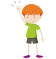 Little boy with his hand up vector image