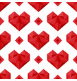polygonal hearts pattern vector image