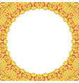 abstract circular frame with white background vector image vector image