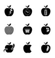 apple world icons set simple style vector image vector image