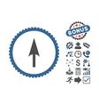 Arrow Axis Y Flat Icon With Bonus vector image vector image