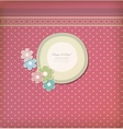 Beautiful vintage greeting card vector image vector image
