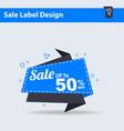big sale label 50 offer discount big sale tag vector image
