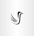 black bird icon stylized vector image vector image