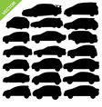 car silhouettes vector image vector image