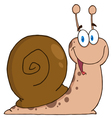 cheerful snail vector image