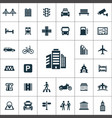city icons universal set for web and ui vector image